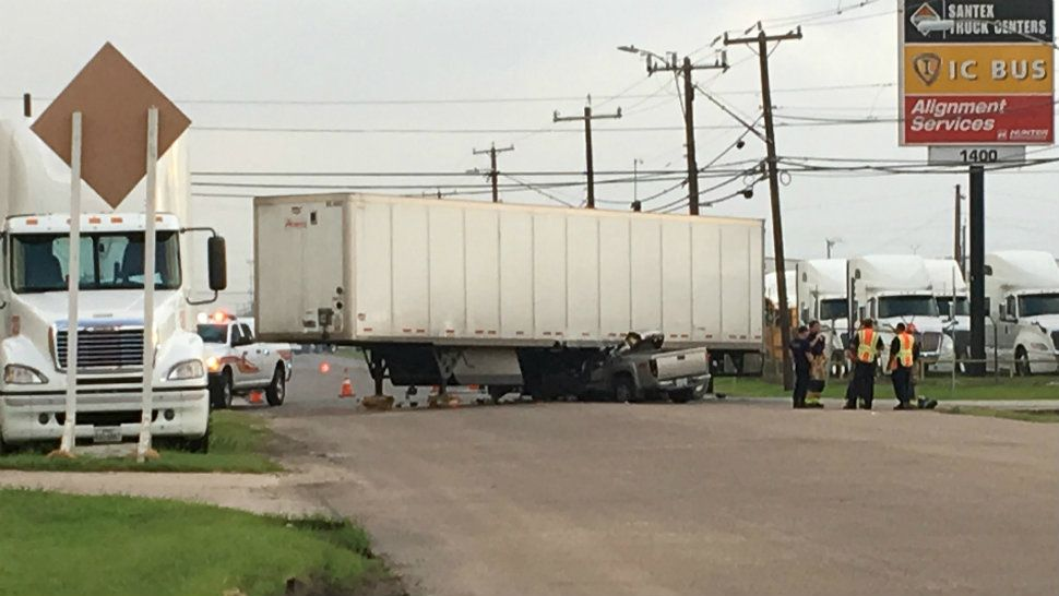 Driver Killed in Crash with 18-Wheeler