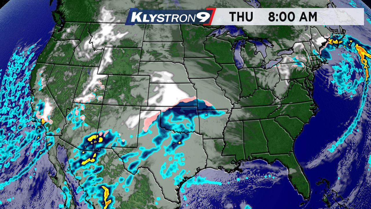 Thanksgiving weather radar - 8 a.m. Thursday
