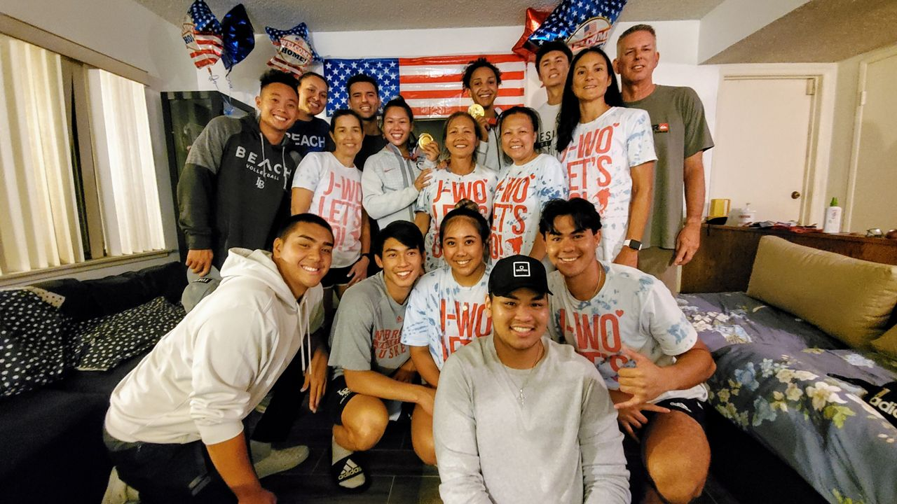 Families, friends welcome home gold medal winner Justine Wong-Orantes