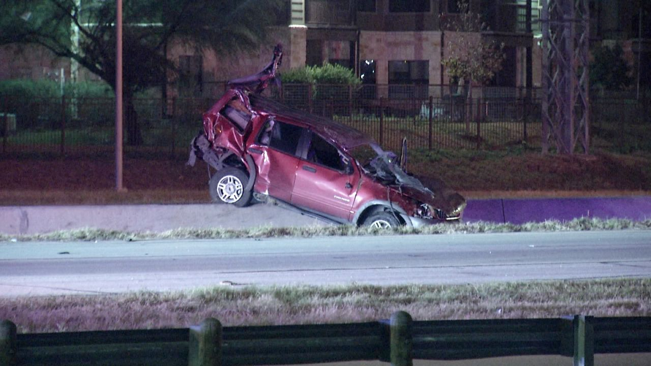 woman trapped in car during fiery crash