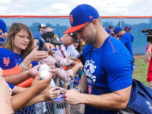 tim tebow mets spring training