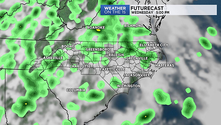 Tropical air makes for another chance for showers and storms