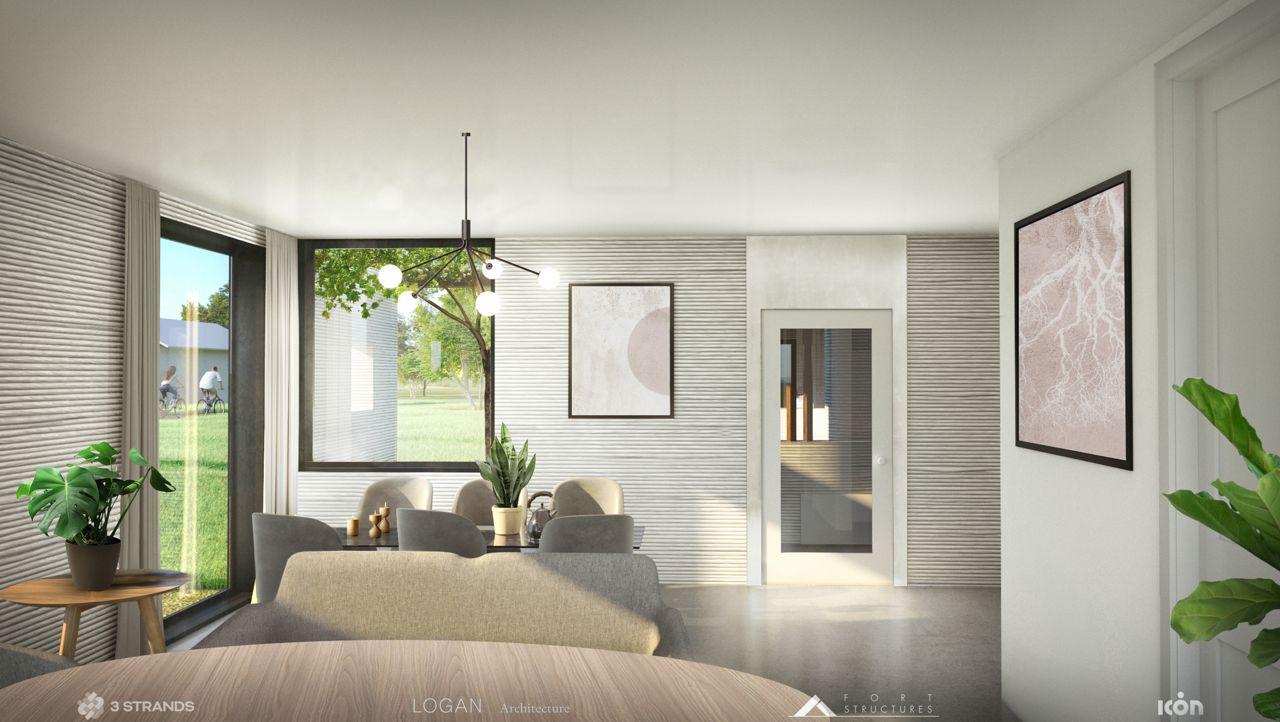 3D-printed home interior (photo credit: 3Strands)