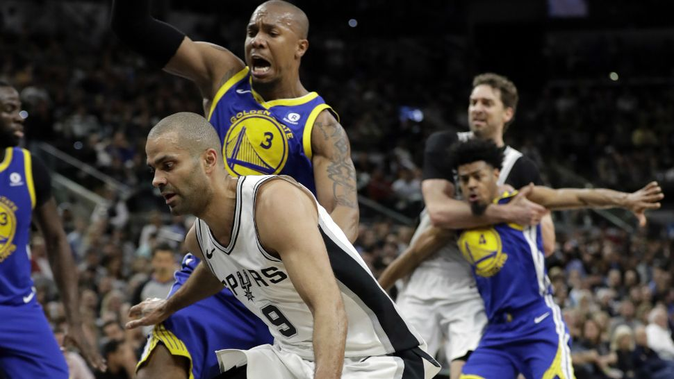 aa29992fc15 Tony Parker during a game against the Golden State Warriors. (Image AP)