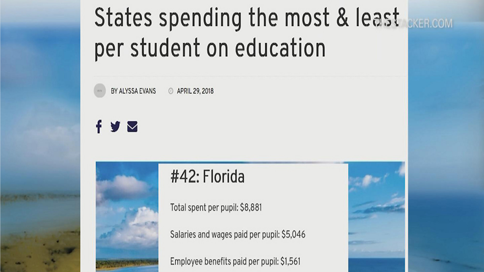 The States That Spend Most And Least On >> Florida Ranks Near Bottom In Public School Spending