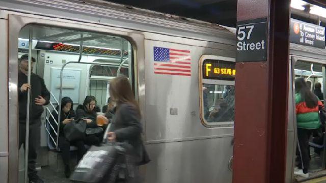 New York City Subway Map December 1999.57th Street F Line Subway Stop Closed Until December