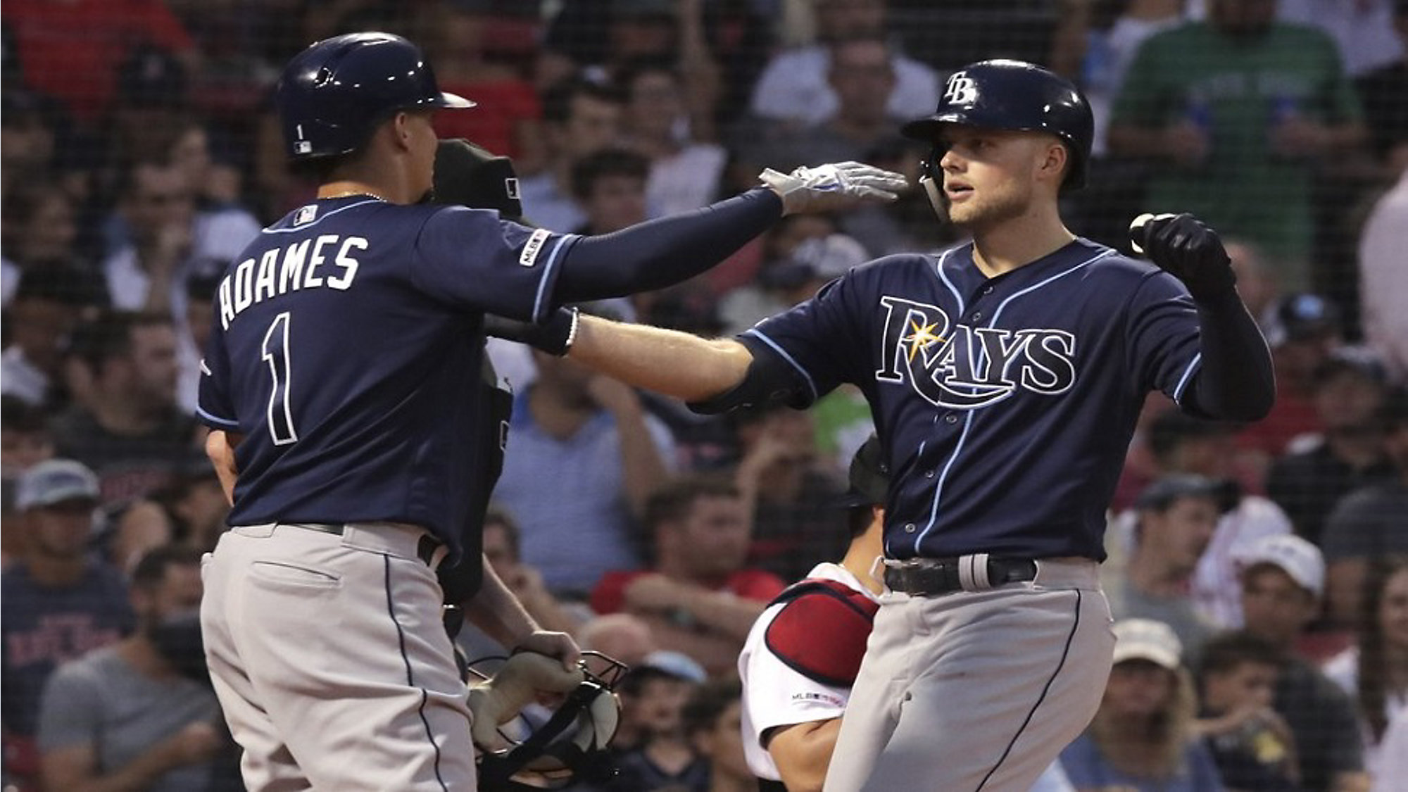 Kiermaier Homers In Return Rays Hold On To Beat Boston 8 5