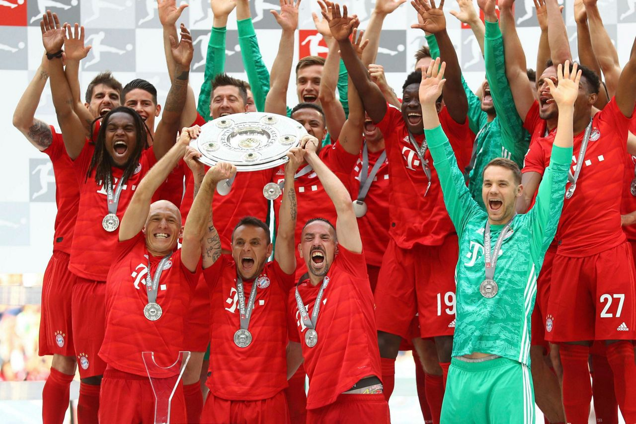Tears Cheers In Munich As Bayern Claims Another Bundesliga