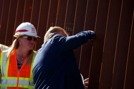 Image result for Trump visits border wall construction in California to cap three-day trip