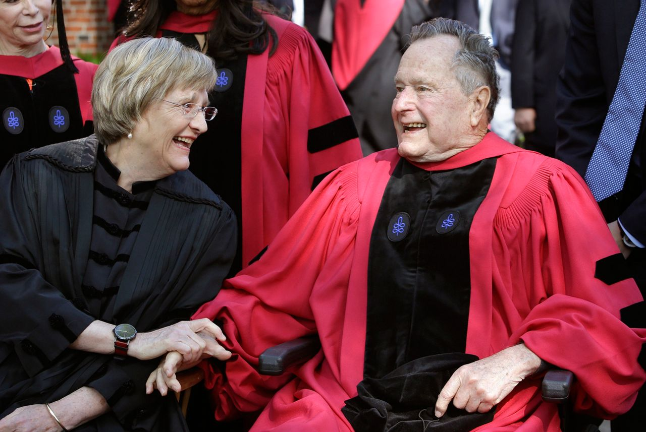 Bush and Harvard president