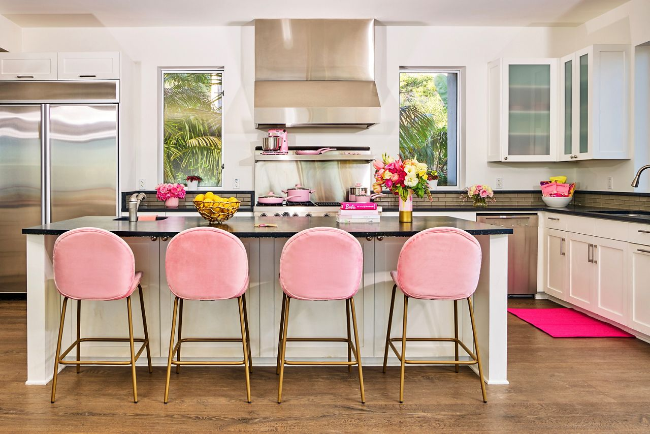 Chef Gina Clare-Helm will give a cooking lesson in Barbie's kitchen.