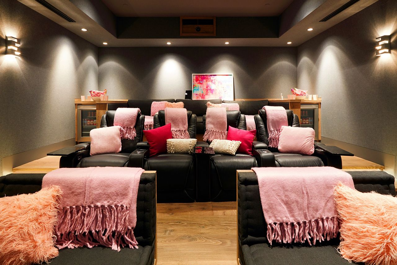 Barbie's Dreamhouse also has a movie theater.
