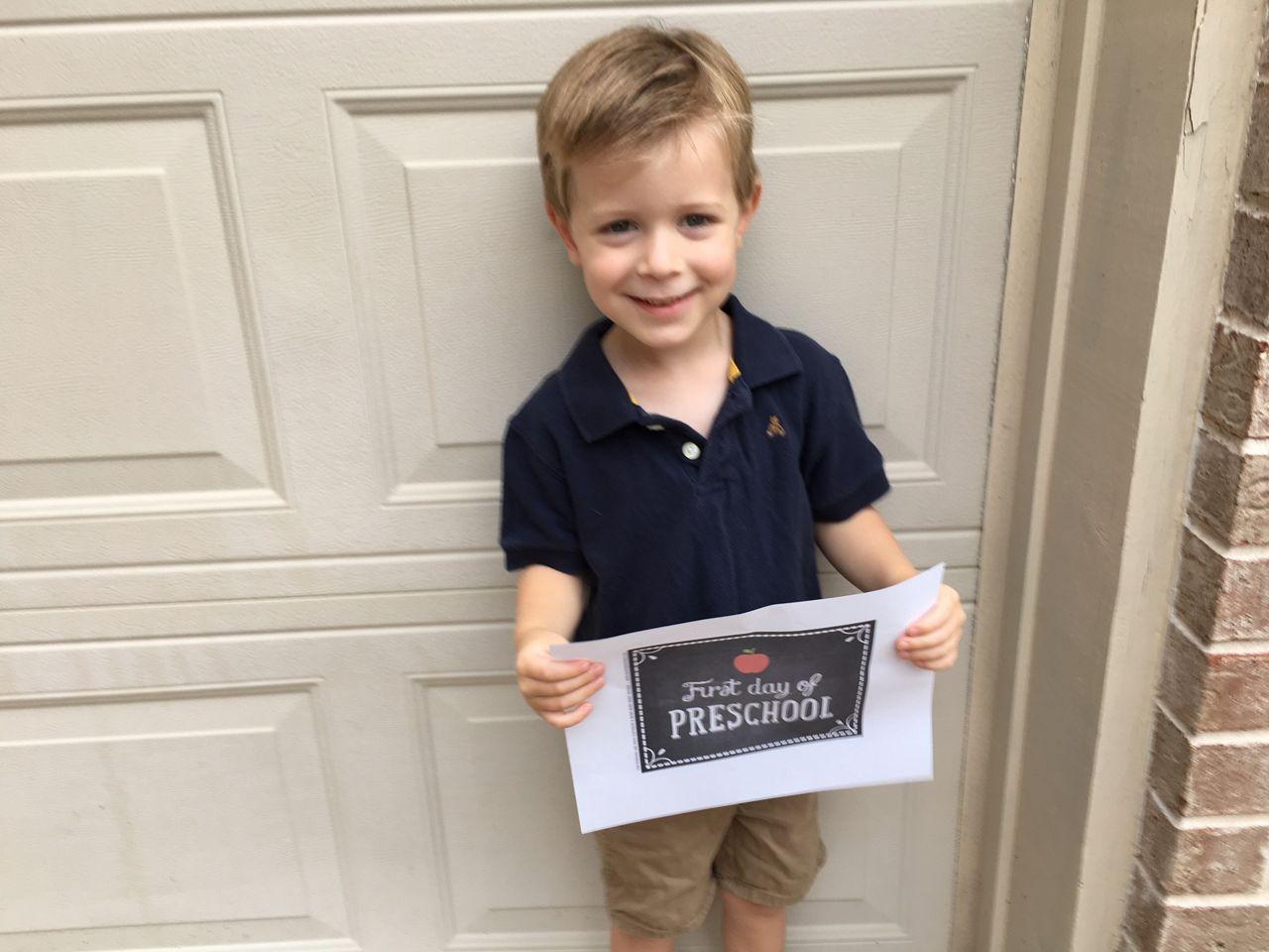 Benjamin is starting preschool.