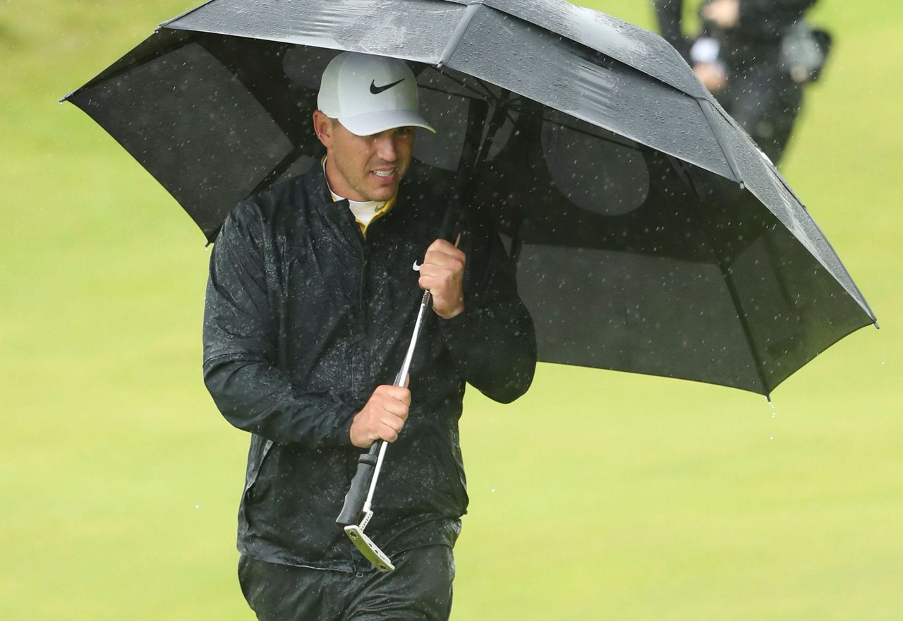 bad weather leads to some high scores at british open