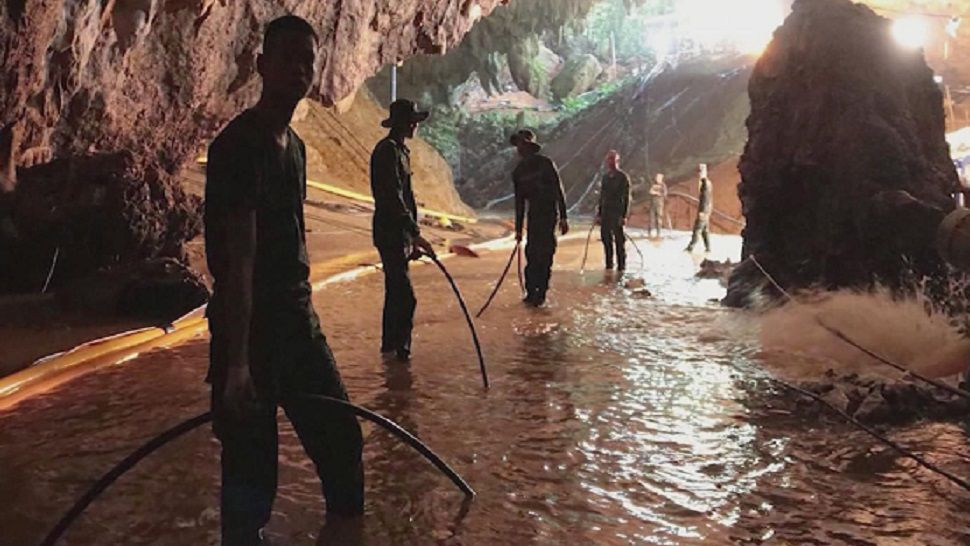 Authorities have been rushing to extract the boys, ages 11-16, and their coach from the cave as monsoon rains bore down on the mountainous region in far northern Chiang Rai province. (File photo)