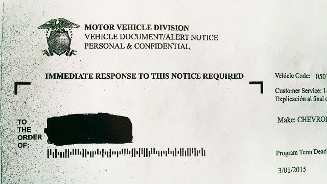 Vehicle Service Department Letter >> Vehicle Warranty Scam Warning