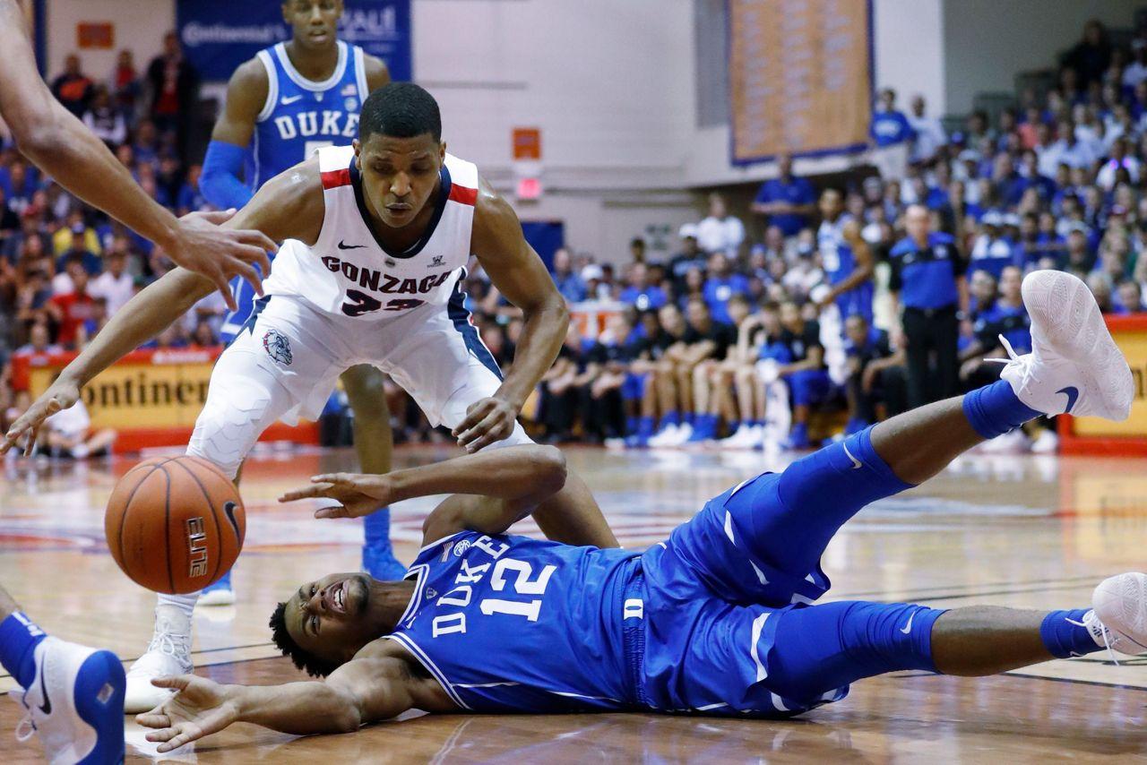 The Latest: No. 3 Gonzaga holds off No. 1 Duke 89-87 in MauiGonzaga Basketball