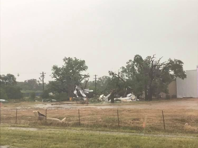 Buildings have been destroyed in Fayette County in the wake of 2 tornadoes.