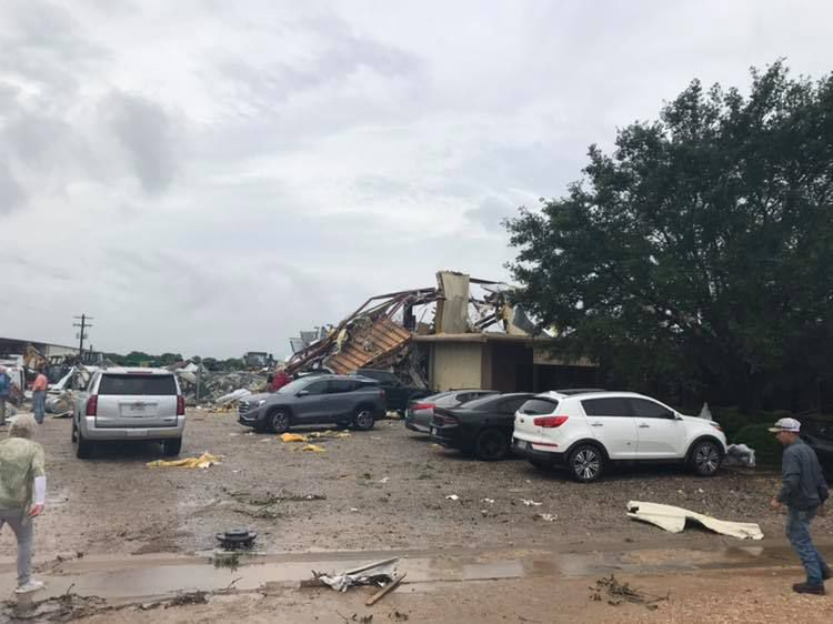 Several buildings have been destroyed in Fayette County in the wake of 2 tornadoes.
