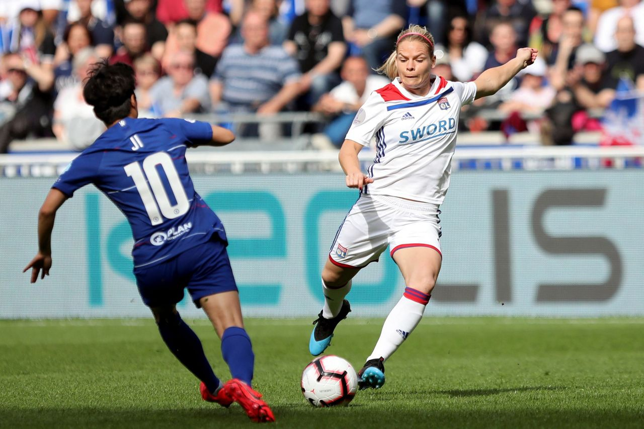 Chelsea Vs Manchester United Vs Fc Barcelona: Lyon, Barca Win 1st Legs Of Women's Champions League Semis