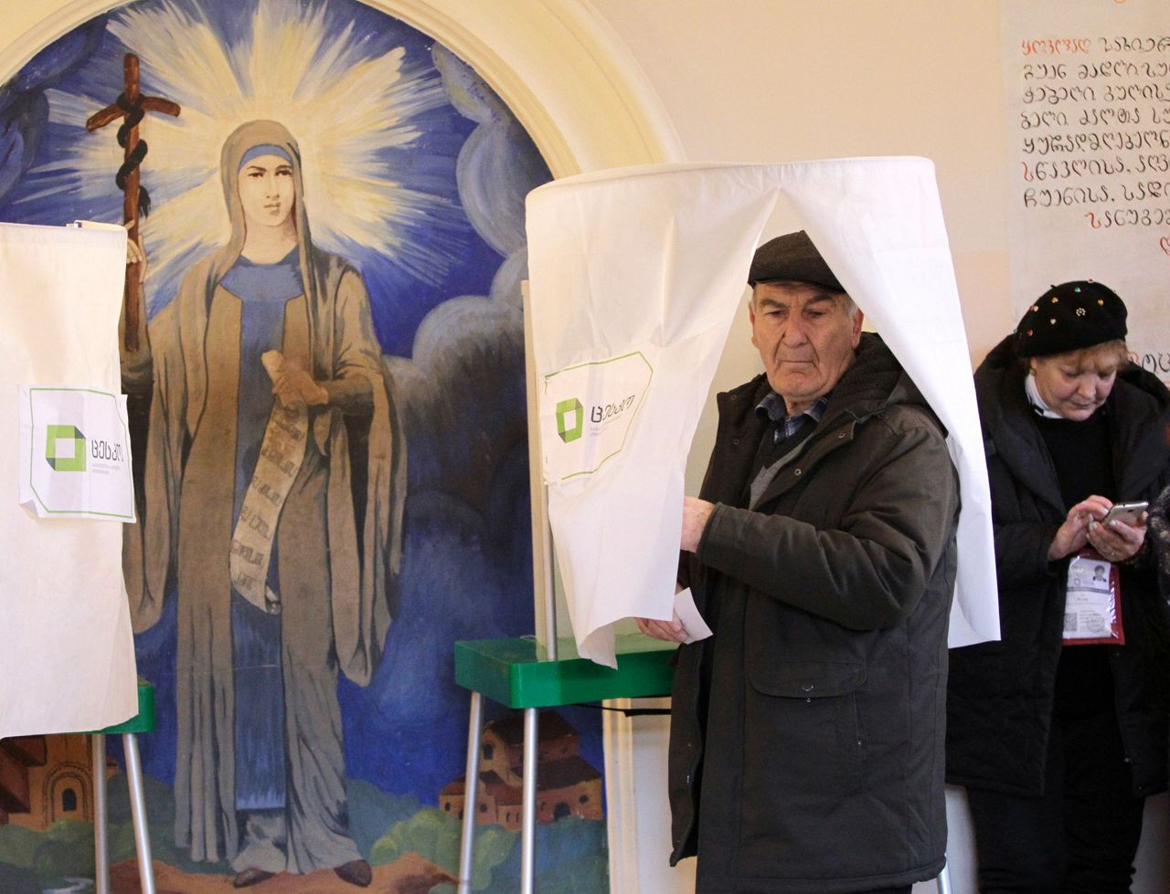 Georgians set to vote in hotly contested presidential runoff