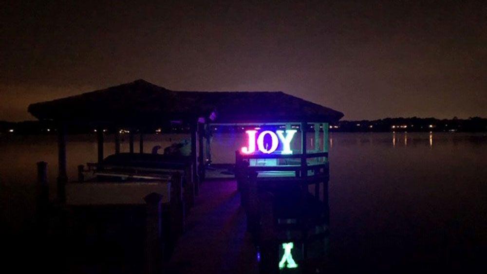 """Joy"" --The Richards' boat dock in Windermere."