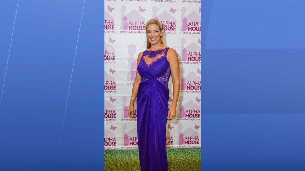 Spectrum Bay News 9 Anchor Holly Gregory at the Alpha House Fundraiser Gala