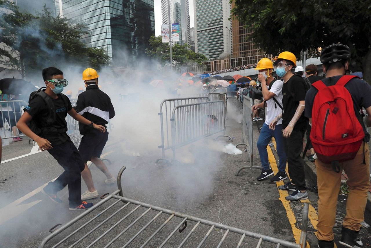 100s Of Protesters Surround Hong Kong Hq Before Bill Debate