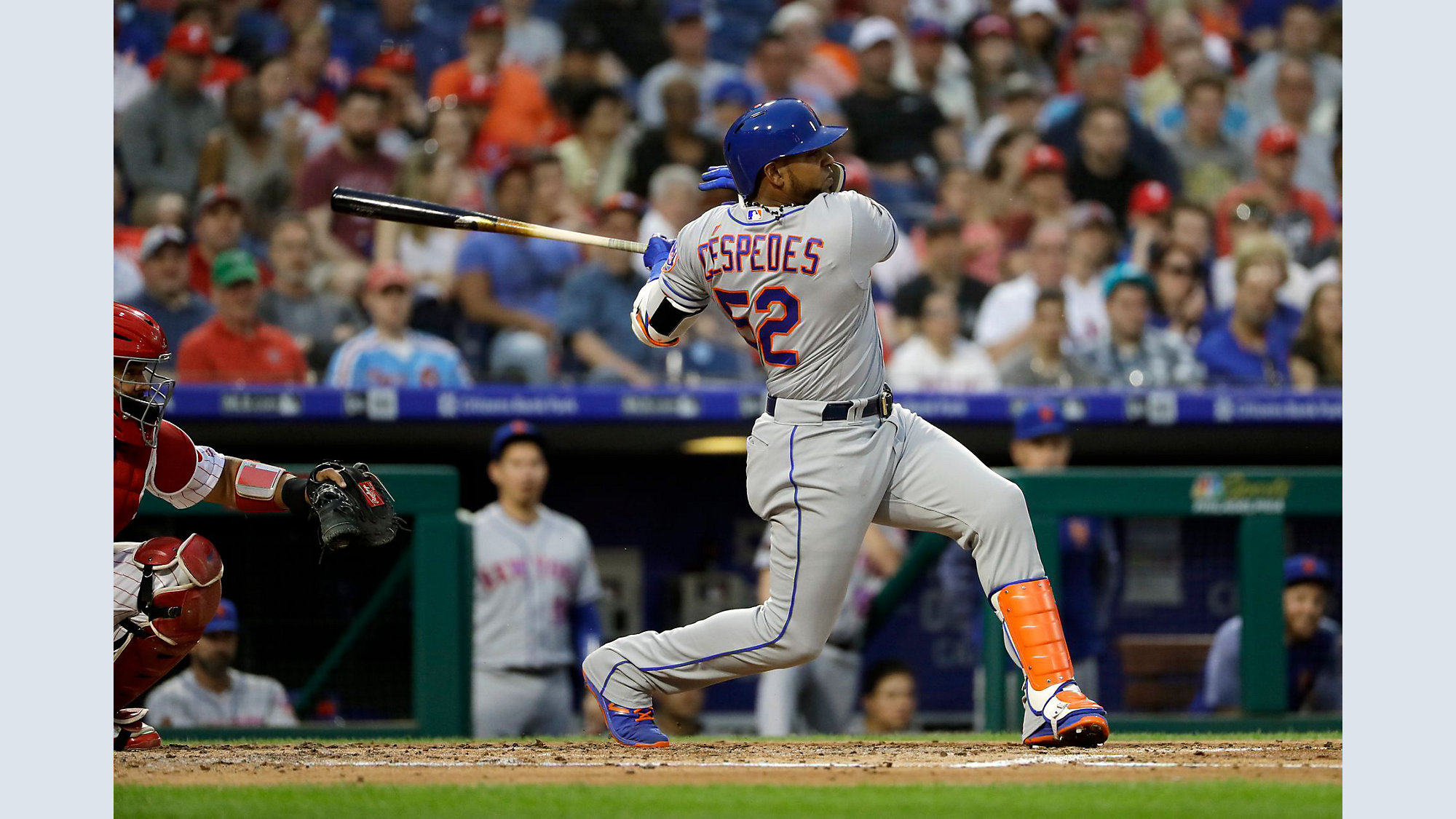 the best attitude 5837b e954b Injured Cespedes may be ready for Mets-Yankees series