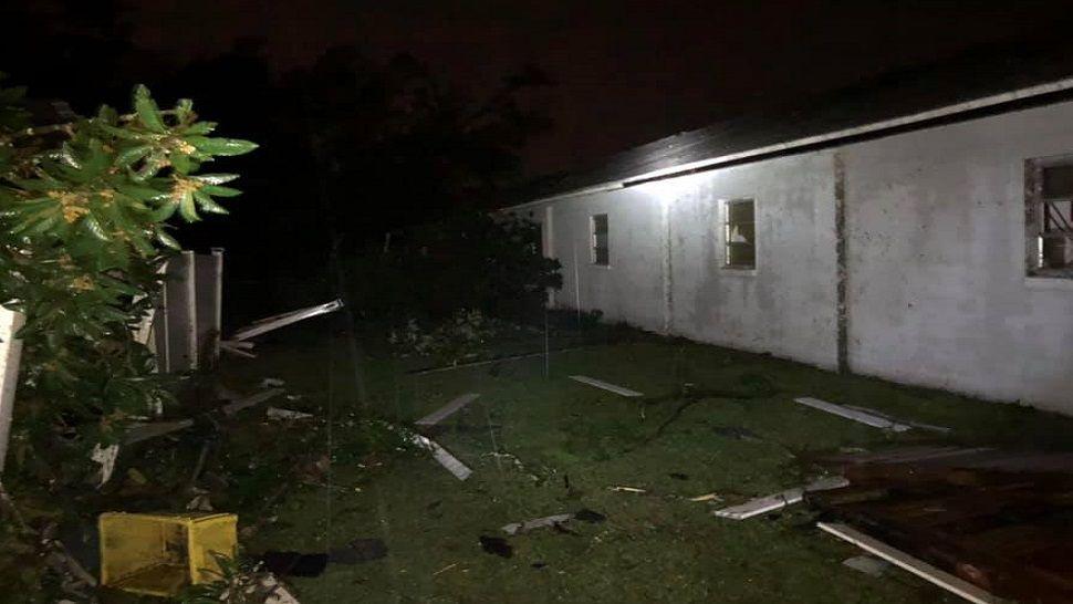 Mt. Tabor Baptist Church storm damage