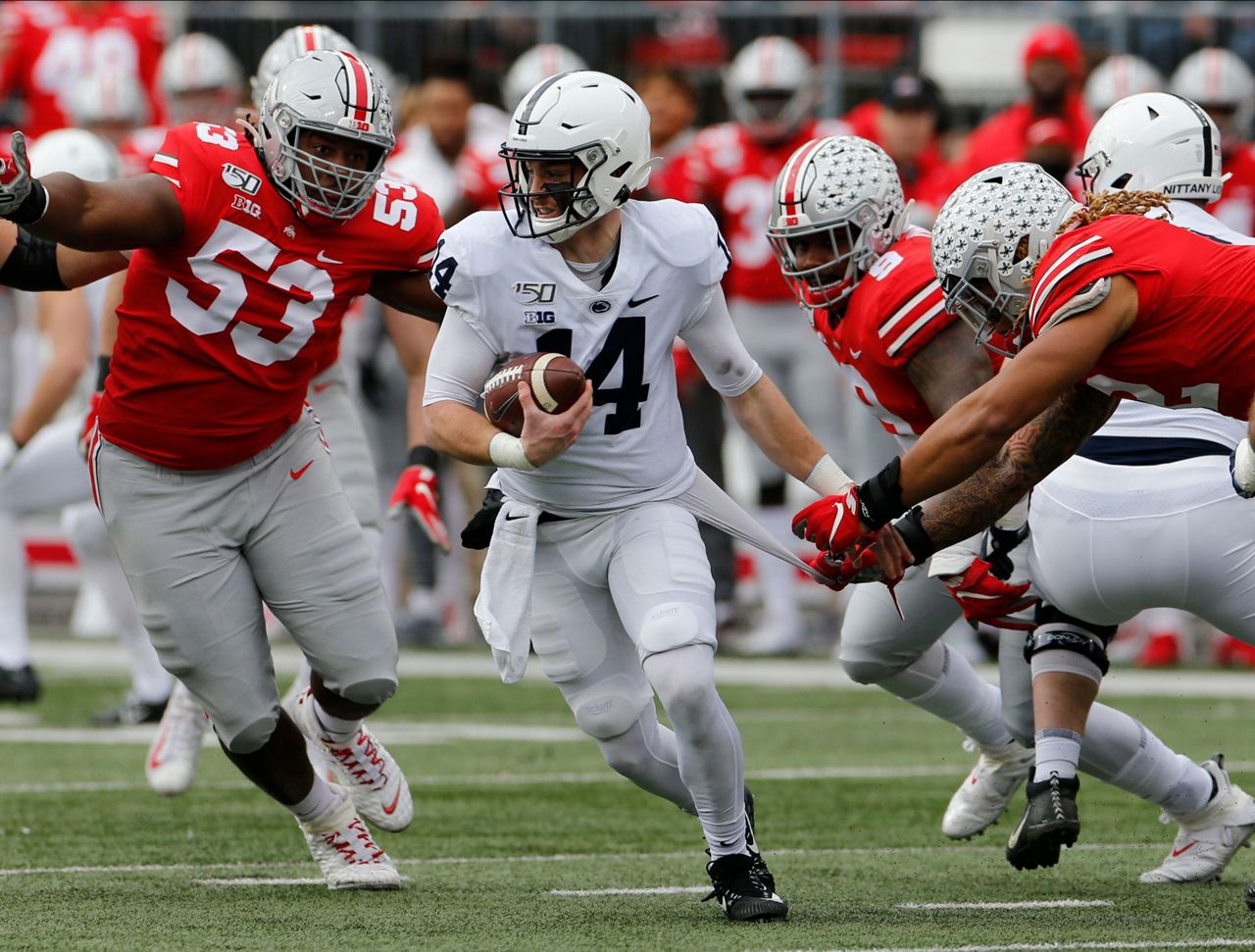 Penn State's Clifford leaves Ohio State game with leg injury