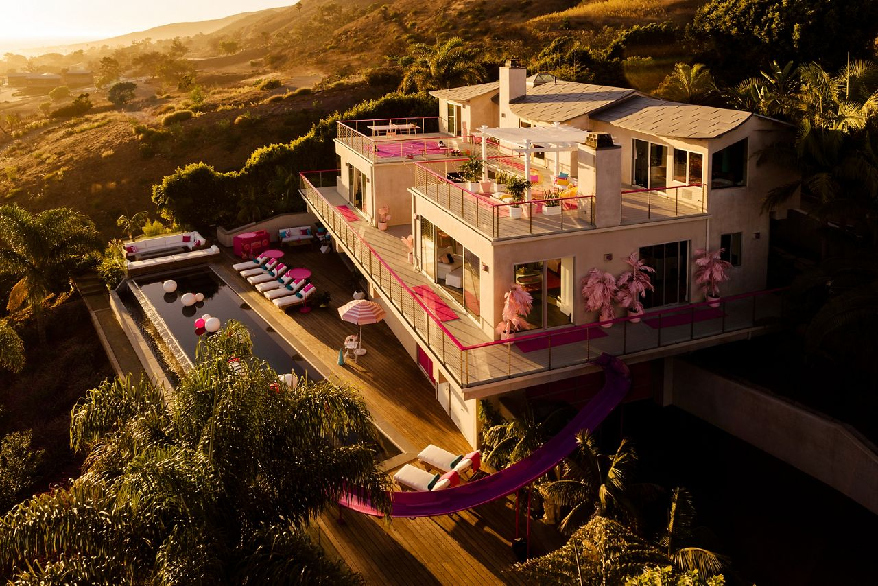 One guest and up to three friends can stay at Barbie's Dreamhouse from Sunday, October 27 through Tuesday, October 29 for $60 a night.