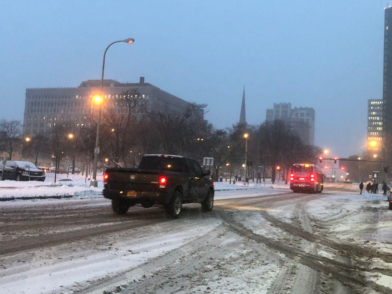 Snowy Friday Morning in Buffalo