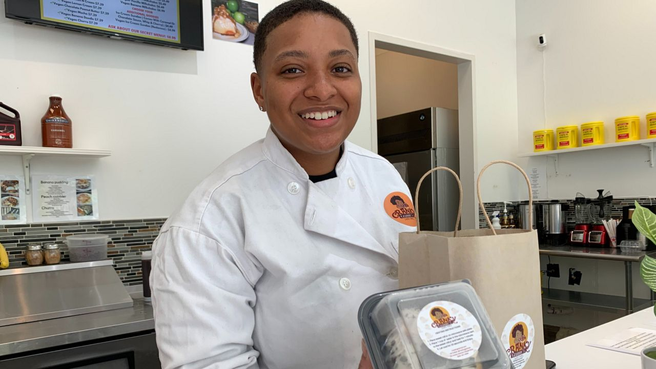 New Jersey entrepreneur Sianni Dean opens Cranky Granny Sweet Rolls in North Austin. (Spectrum News 1/Jordan Hicks)