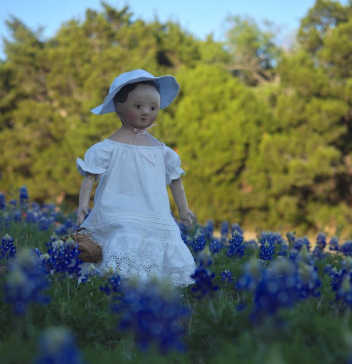 Doll in bluebonnets