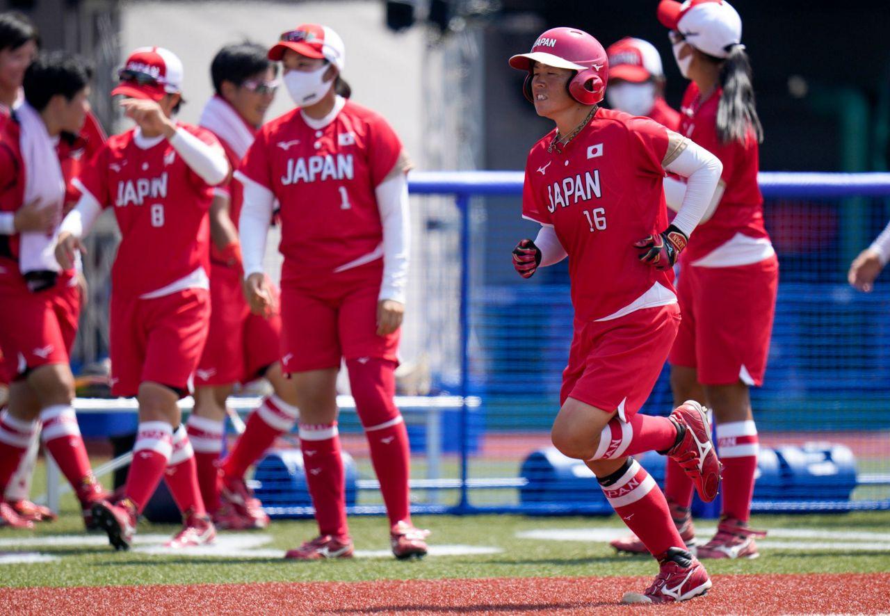 Softball gets delayed Tokyo Olympics underway in Fukushima