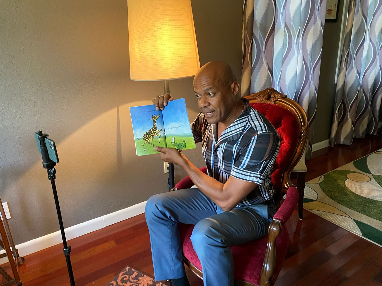 Reporter Trevor Pettiford read a book to children for the Pinellas County Early Learning Coalition's You Tube Channel.