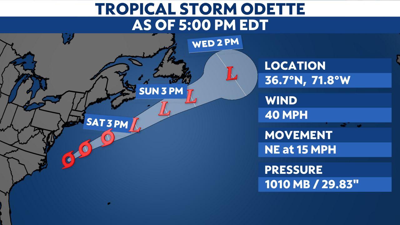 Odette forms off the U.S. East Coast