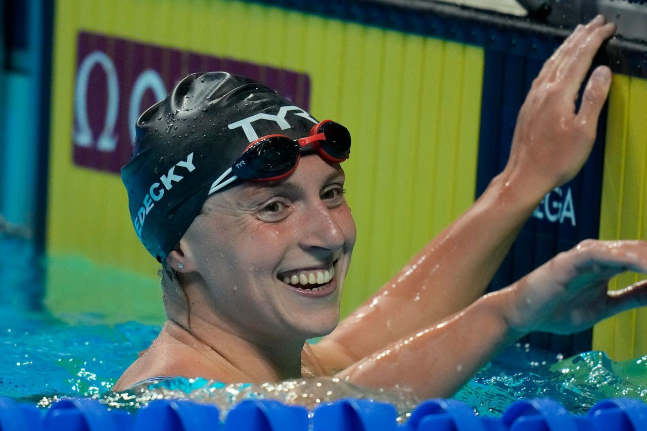 One down, one to go: Ledecky starts busy night with win - Spectrum News 1