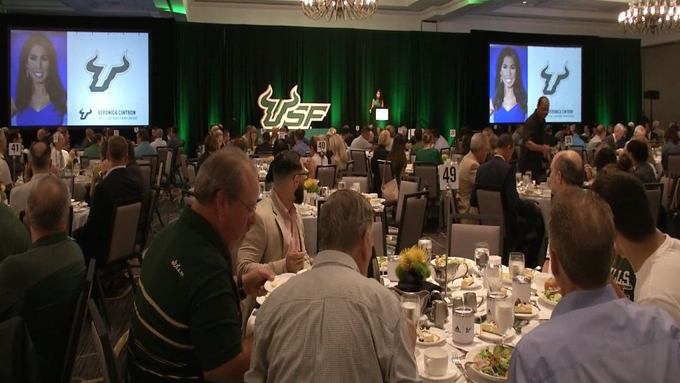 Veronica Cintron at USF Football Kickoff Luncheon