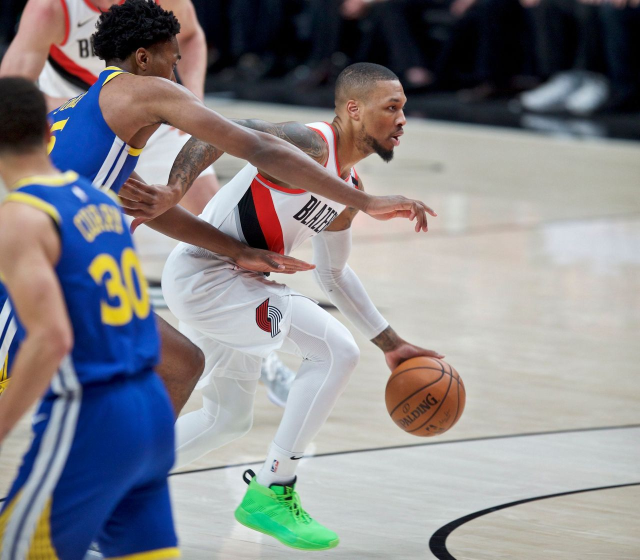 Blazers Game 3: Green, Warriors Beat Blazers For 3-0 Lead In West Finals