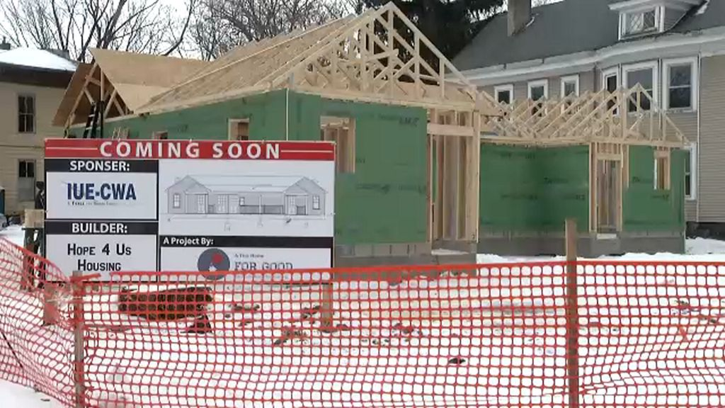 """A Tiny Home For Good"" organization is building four more homes on Slocum Ave in Syracuse."