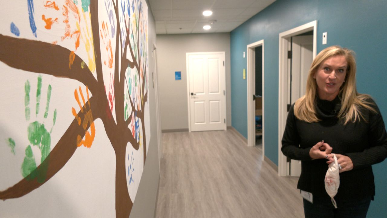 Kristen Howell, CEO of the Children's Advocacy Center for Denton County, appears in this image from January 2021. (Brian Scott/Spectrum News 1)