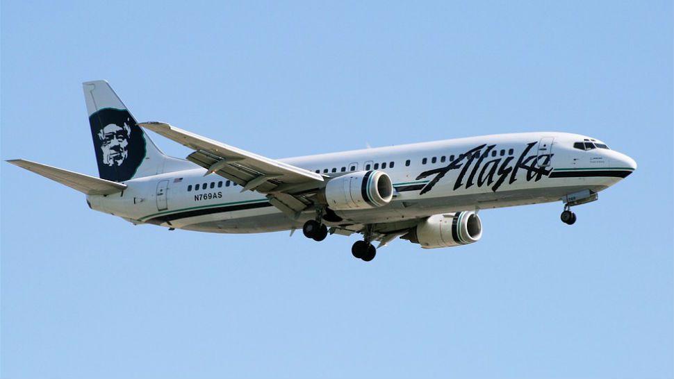 Naked passenger forces turnaround of Alaska Airlines