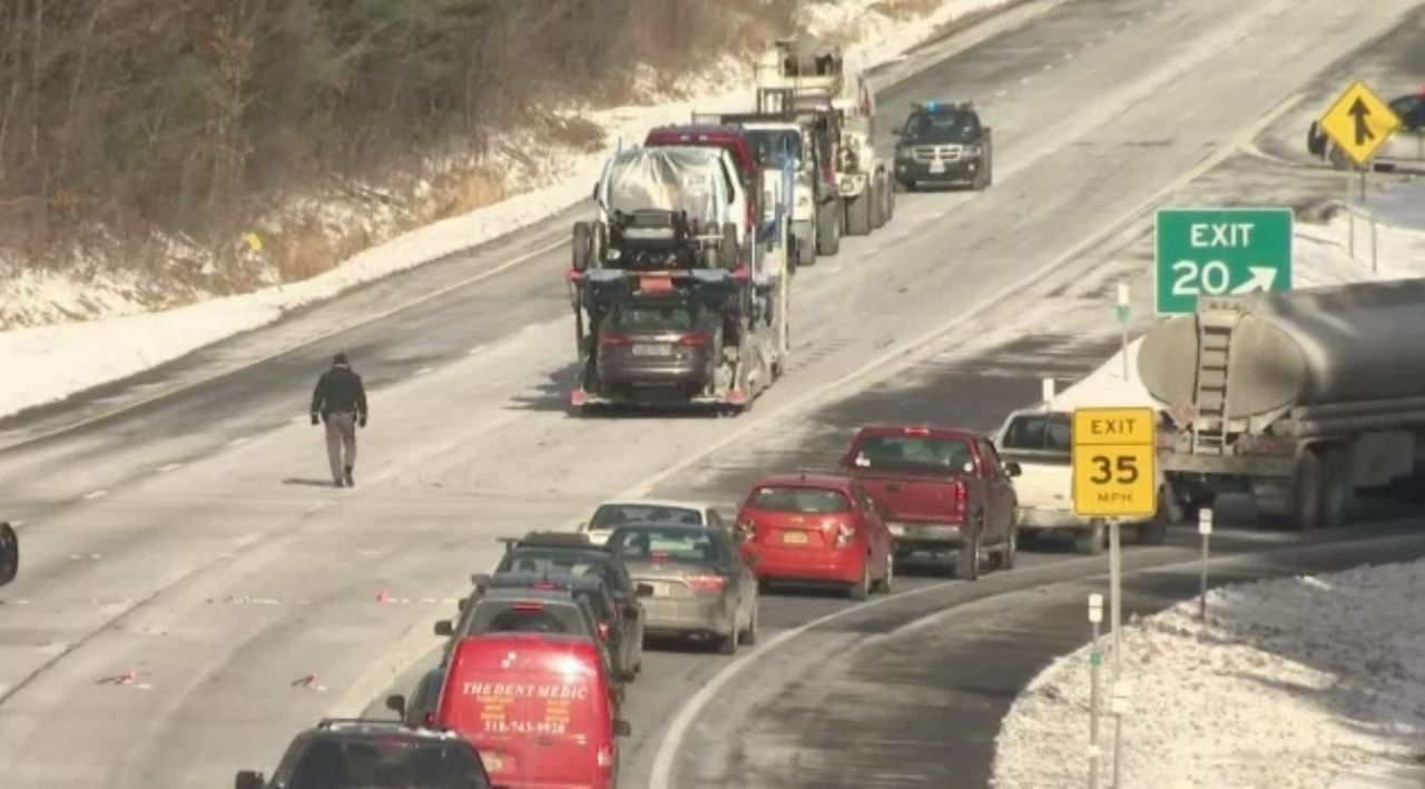 Tractor-Trailer Collides with Snowplow, Shutting Down Northway