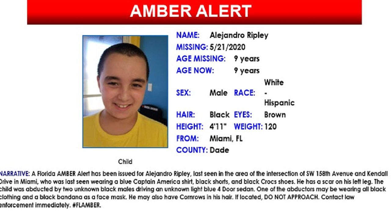 Amber Alert Canceled After Miami Boy 9 Found Dead