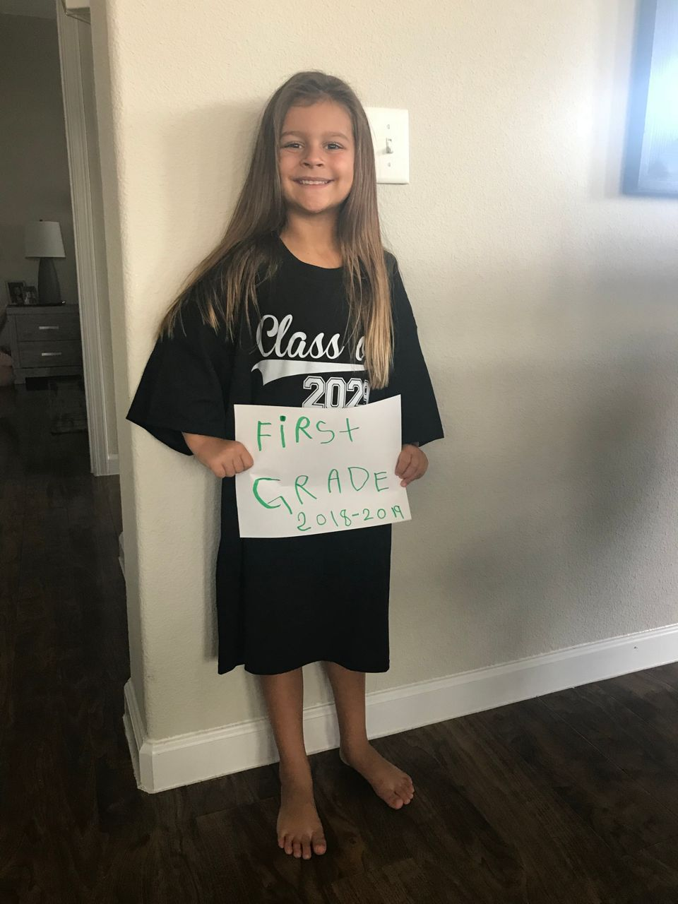 This student is excited and ready to start 1st grade!