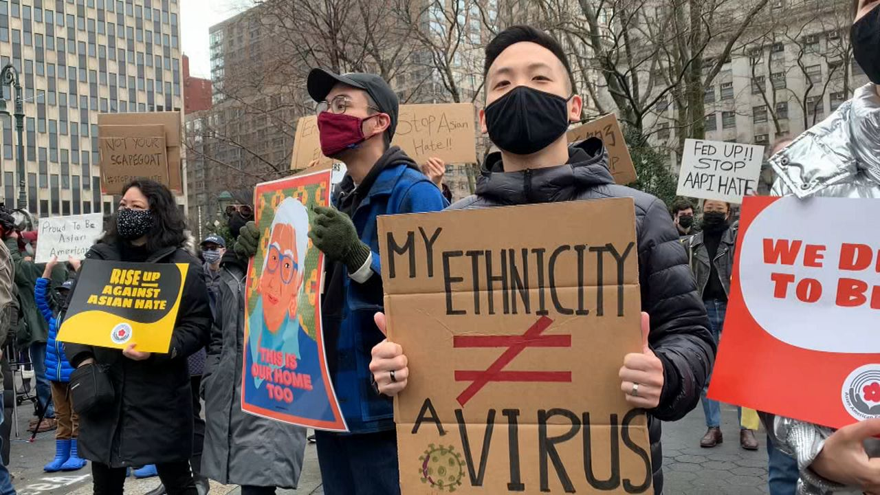 www.ny1.com: Hundreds Rally Against Anti-Asian Attacks