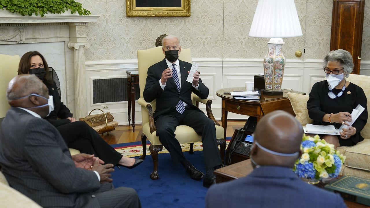 Biden, Harris meet with Congressional Black Caucus amid infrastructure push, Minnesota unrest