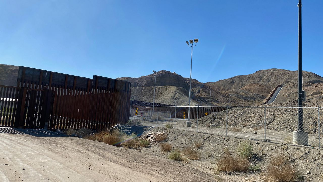 A half-mile section of the privately funded wall in Sunland Park, N.M., built last spring using crowdsourced funds from the We Build the Wall, Inc.. Federal prosecutors have indicted four members of the We Build the Wall, including Steve Bannon, a former advisor to President Donald Trump, accusing them of using funds from the non profit group for personal enrichment. (Photo by Sabra Ayres/ Spectrum News)